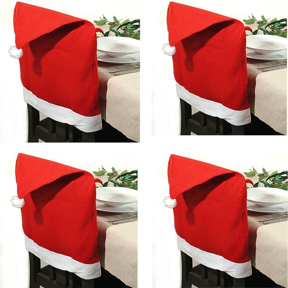 JEMIDI Stuhlhusse Nikolausm/ütze Husse Stuhl Nikolaus Weihnachten Deko Weihnachts 1 St/ück