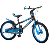 Ollmii Bikes Destrro Steel Kids Cycle 20 inches Sky Blue and Black for 7 to 10 Years