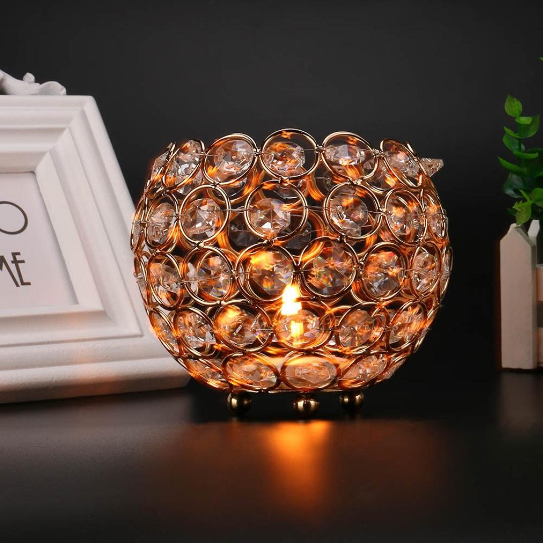 Kerzen Leuchter Deko Jaminy Kerzenleuchter Handmade Crystal Tea