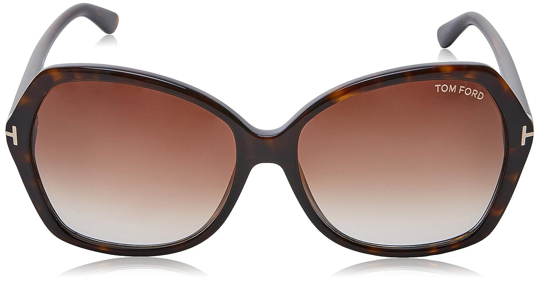 110ffcfda3ea Tom Ford Women s FT0328 140 01B (60 mm) Sunglasses Black 60  Amazon.co.uk   Clothing