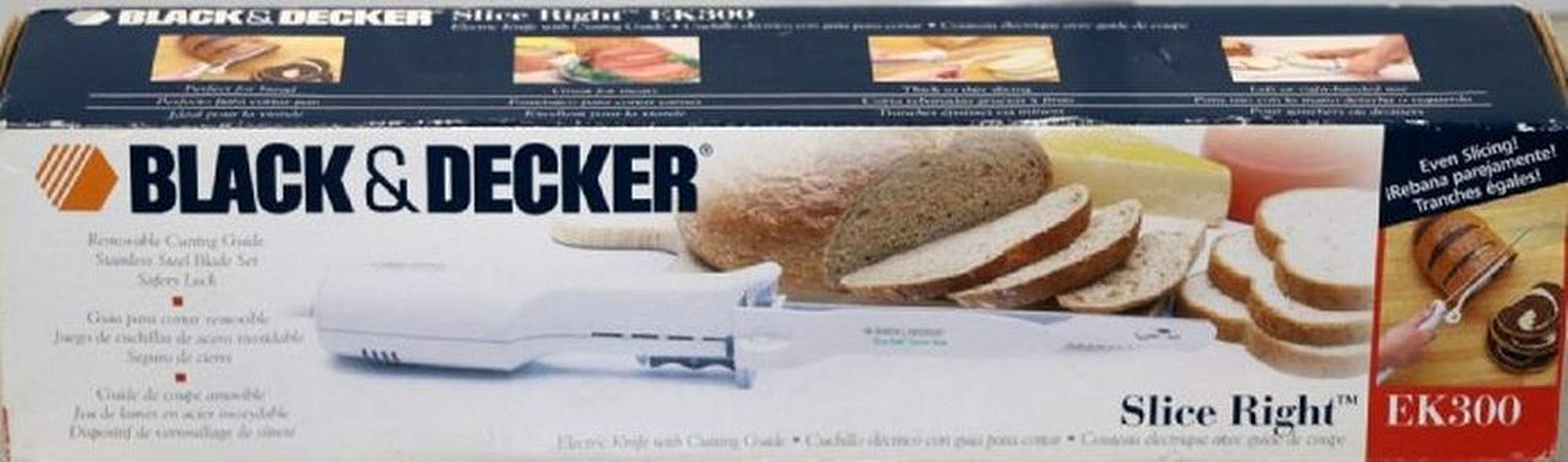 Black & Decker Electric Knife EK300 Slice Right With Box
