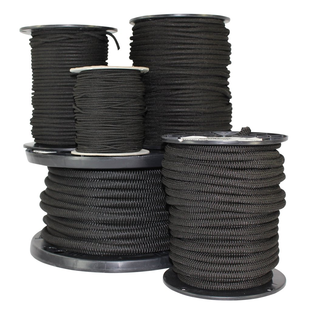 Black Elastic Bungee Cord Replacement 100 ft Shock Cord Tie-Down Camping Shock Absorbent Gravity Chair 100/% Stretch Kayak Deck Strong Hold Diamond Grip 3//16 inch SGT KNOTS Crafting