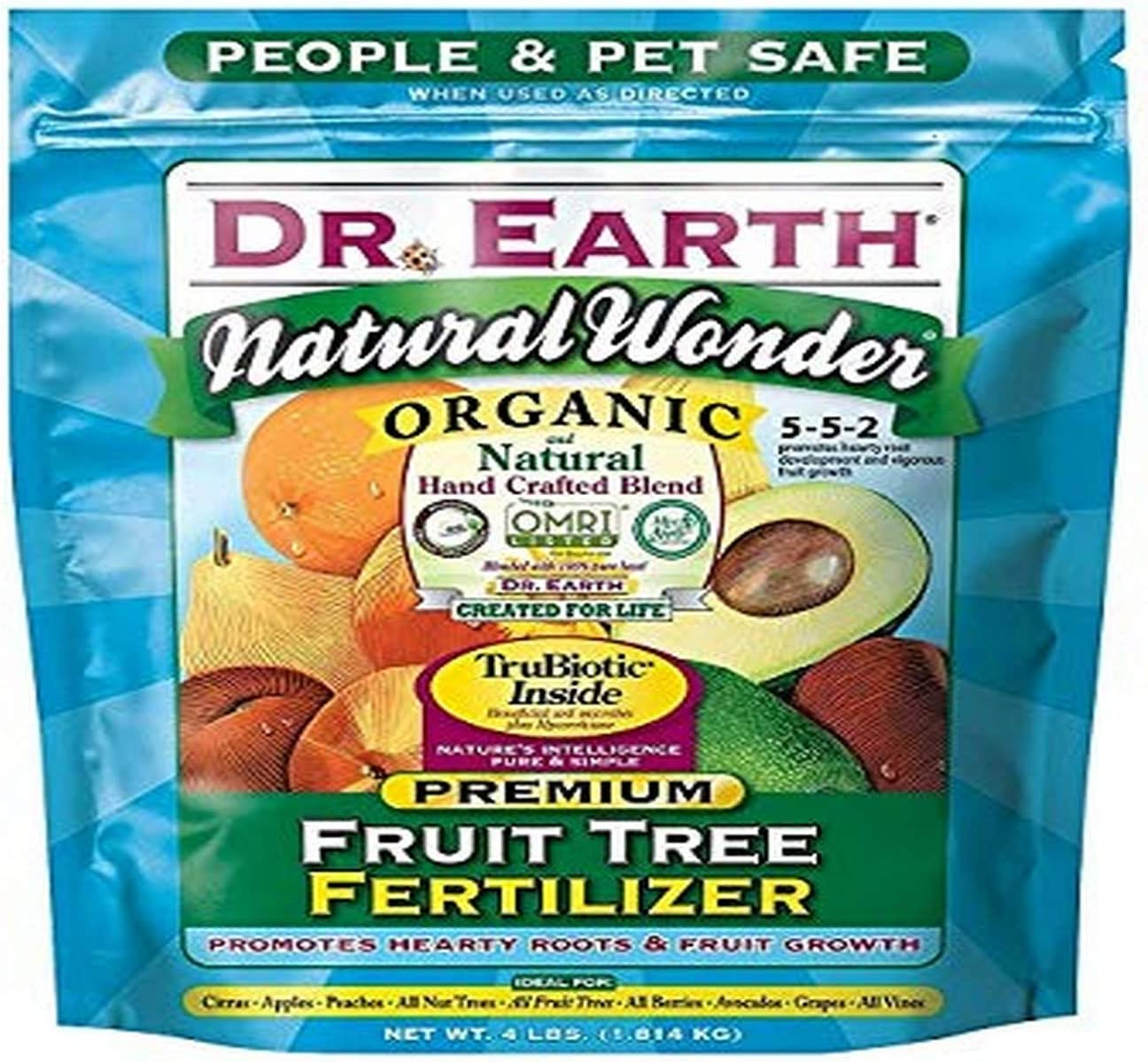 Dr. Earth 708P Organic 9 Fruit Tree Fertilizer