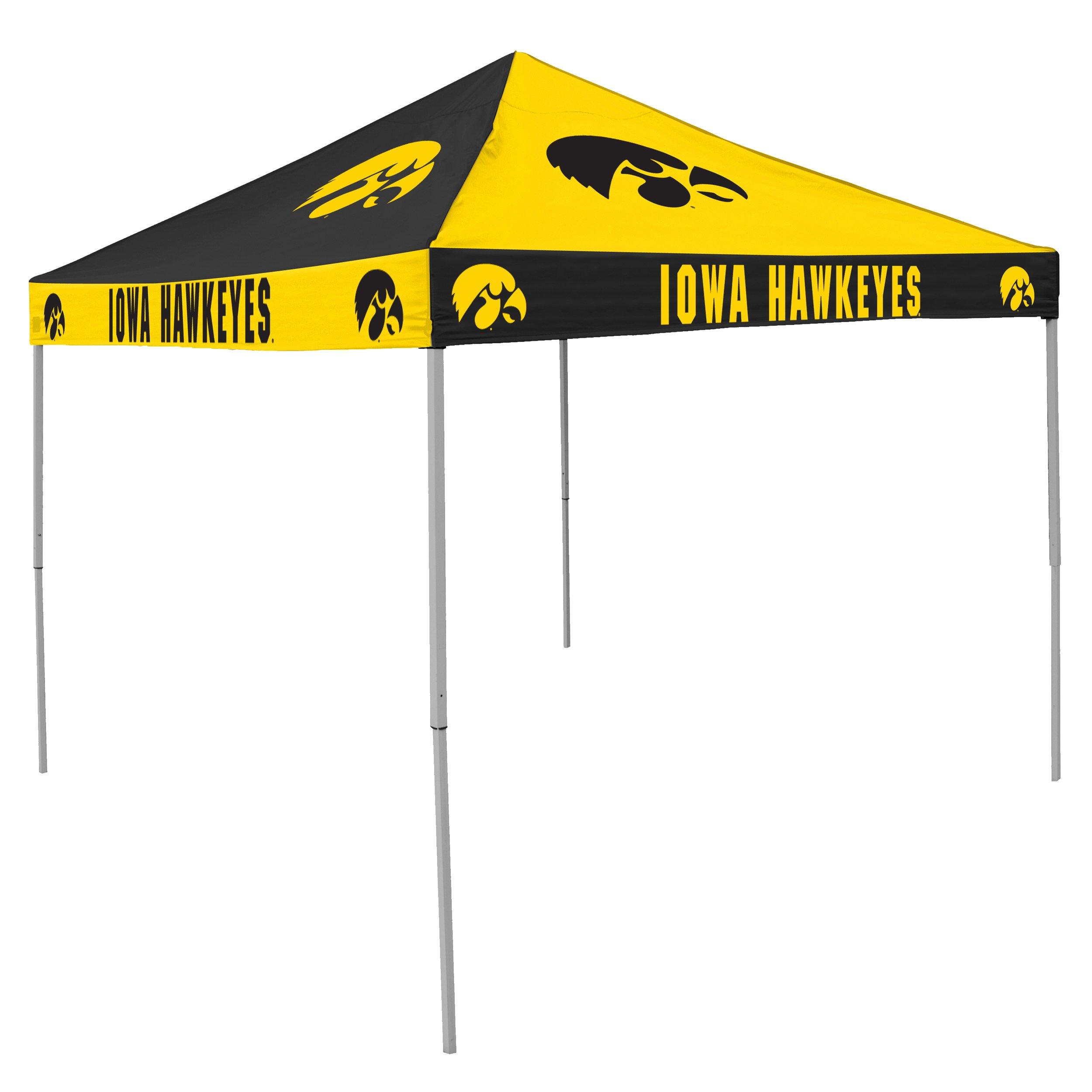 Logo Brands NCAA CB Tent, Iowa Hawkeyes, 9 foot X 9 foot