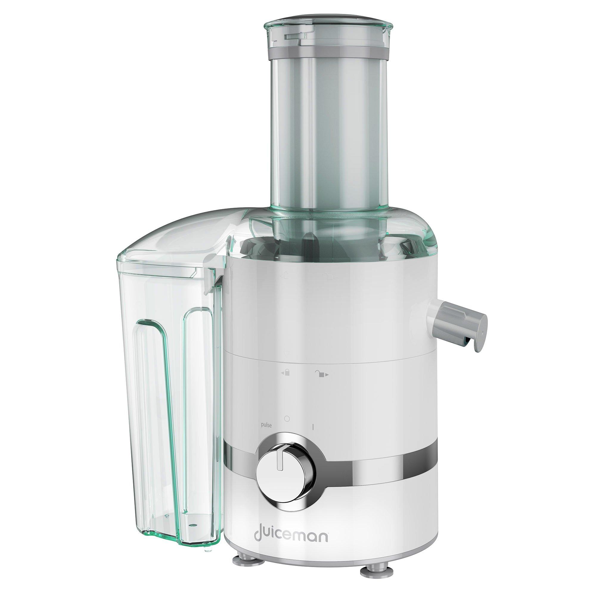 Juiceman JM3000 3-in-1 Total Electric Juicer, Juicer, Blender, & Citrus Juicer with 2L Removable Pulp Container & 24oz. Portable Personal Blending Jar (Travel Lid Included)