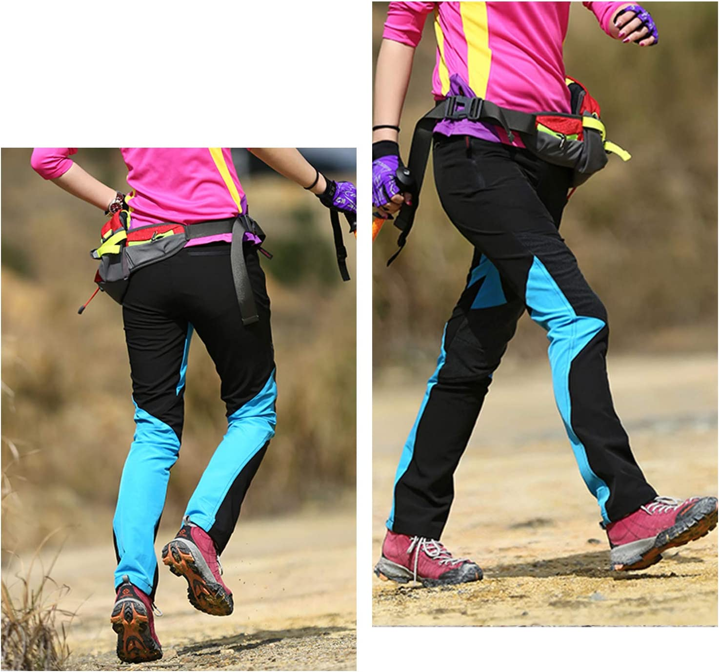 LHHMZ Women Waterproof Hiking Trousers Breathable Lightweight Casual Outdoor Sports Trousers Quick Dry Walking Climbing Trekking Pants