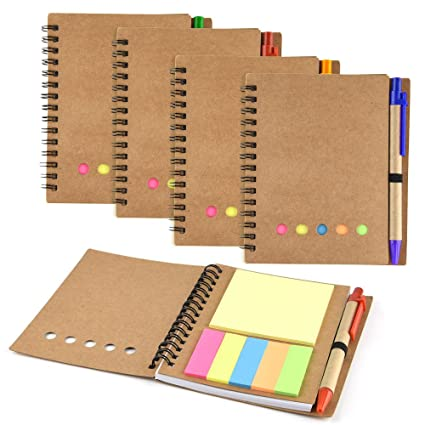 Amazon Com Coopay 4 Pack Spiral Notebook Journal Notepad With Pen