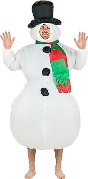 Bodysocks® Disfraz Hinchable de Muñeco de Nieve Adulto ...