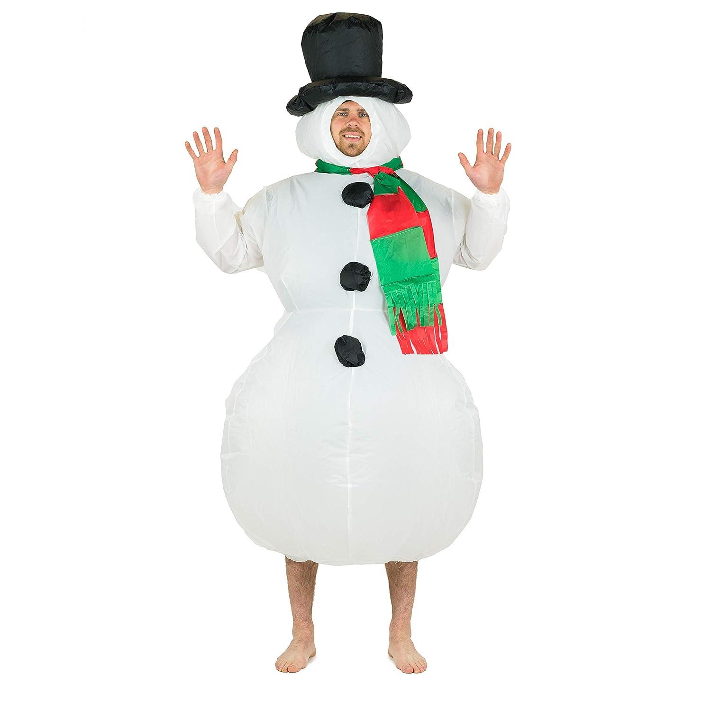 Bodysocks® Disfraz Hinchable de Muñeco de Nieve Adulto: Amazon.es ...