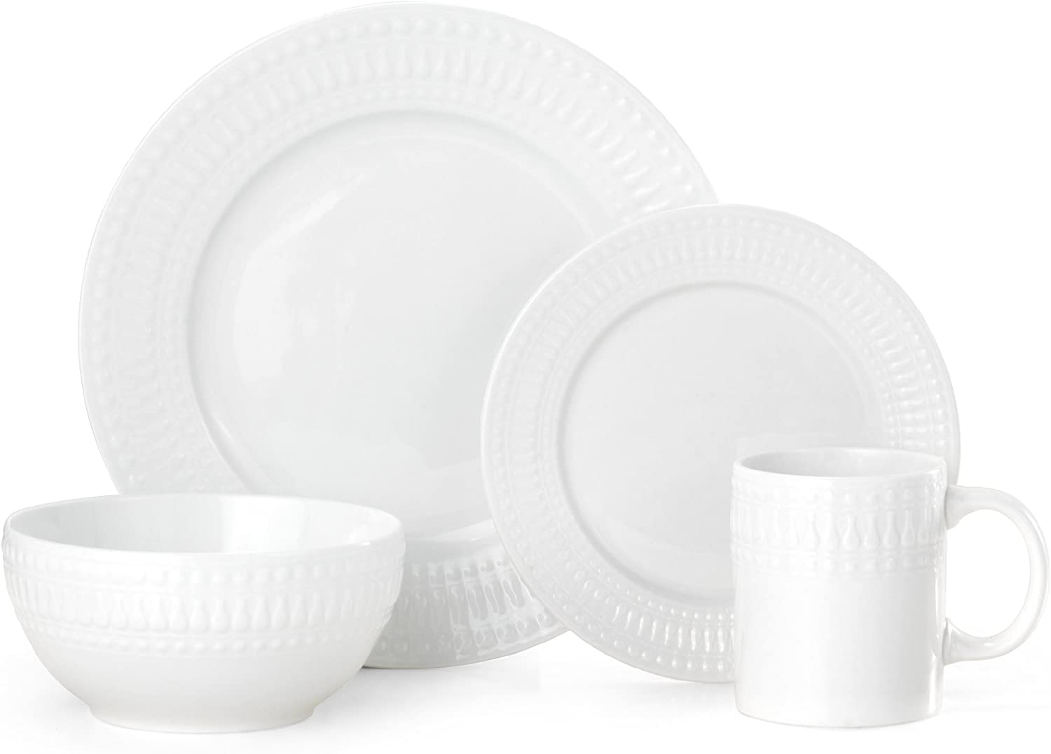 Pfaltzgraff 5189226 Cassandra 16 Piece Dinnerware Set Service For 4 Porcelain Assorted Amazon Co Uk Kitchen Home