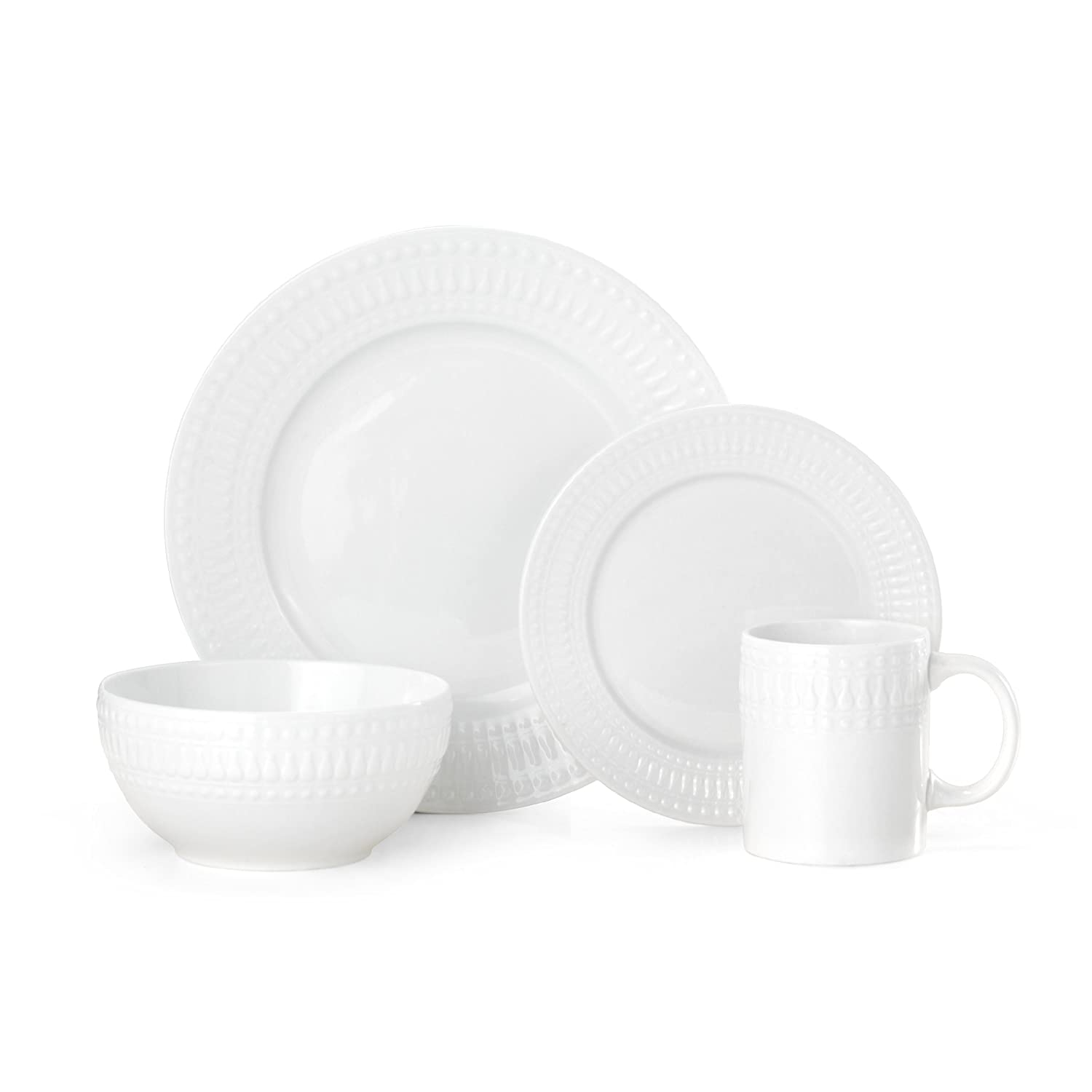 Pfaltzgraff Cassandra 16-Piece Porcelain Dinnerware Set, Service For 4