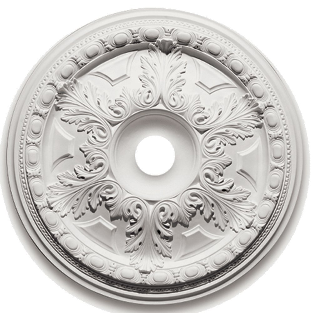 Focal Point 88528 28-Inch Emma Heritage Medallion 28-Inch by 28-Inch by 2 3/4-Inch, Primed White