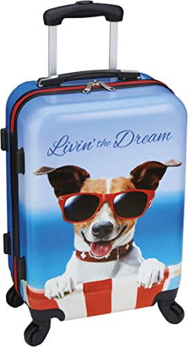 Rolling Carry On Spinner – Livin The Dream Dog Luggage – 20 Suitcase