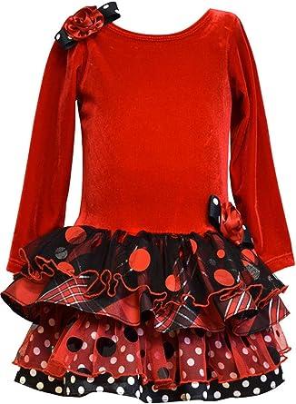 Bonnie Jean Girls Santa Christmas Holiday Red Dress Legging Set  12 18 24 Months