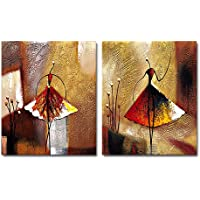 Wieco Art-Pinturas al óleo sobre lienzo para colgar