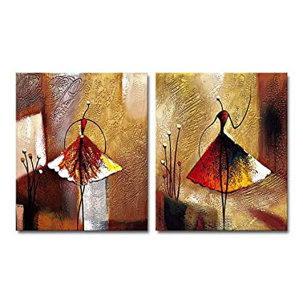 Amazon Com Wieco Art Ballet Dancers 2 Piece Modern Decorative