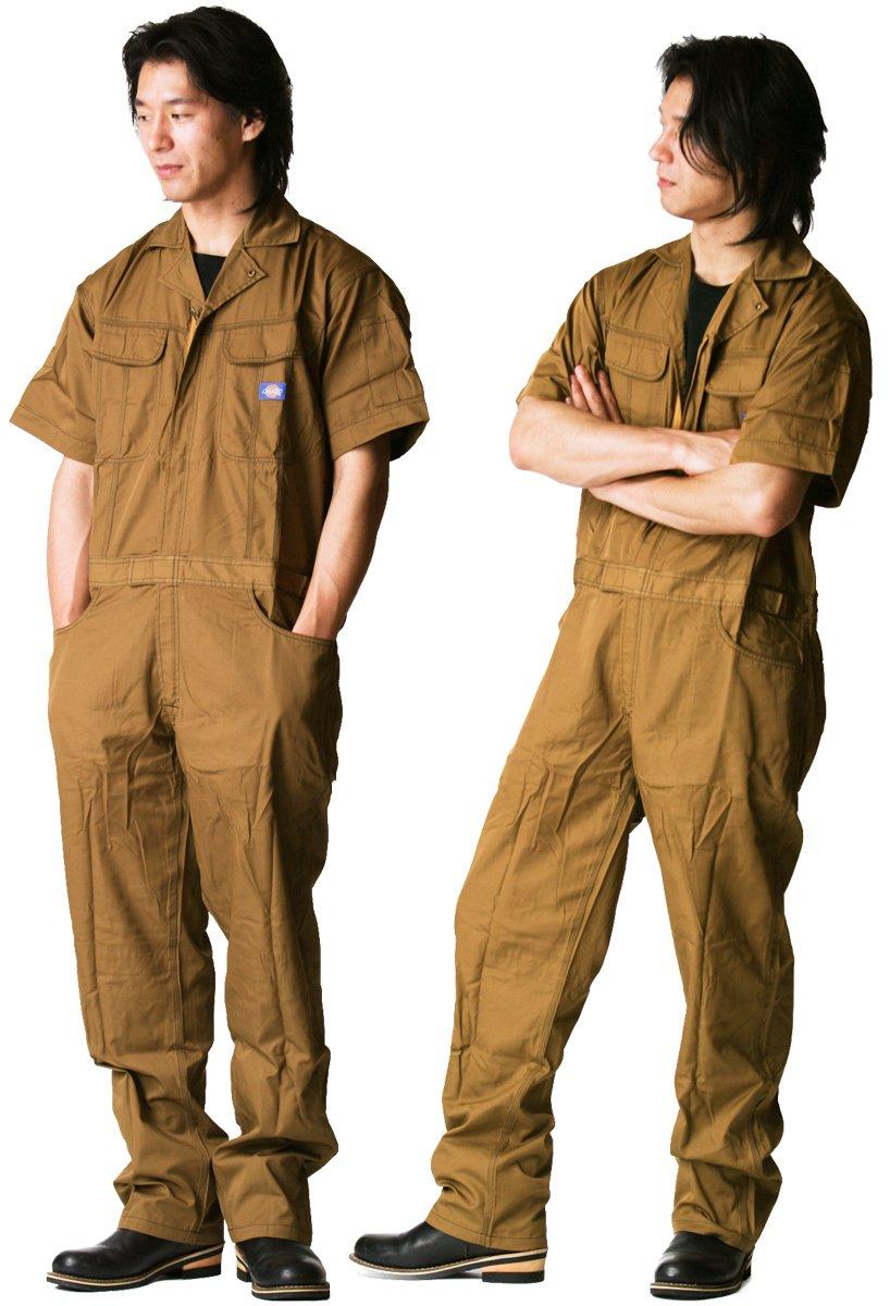ディッキーズ Dickies (山田辰)夏用半袖 ツヅキ服 711 ブラウン 4Lサイズ B00CHJYDG4 4L ブラウン