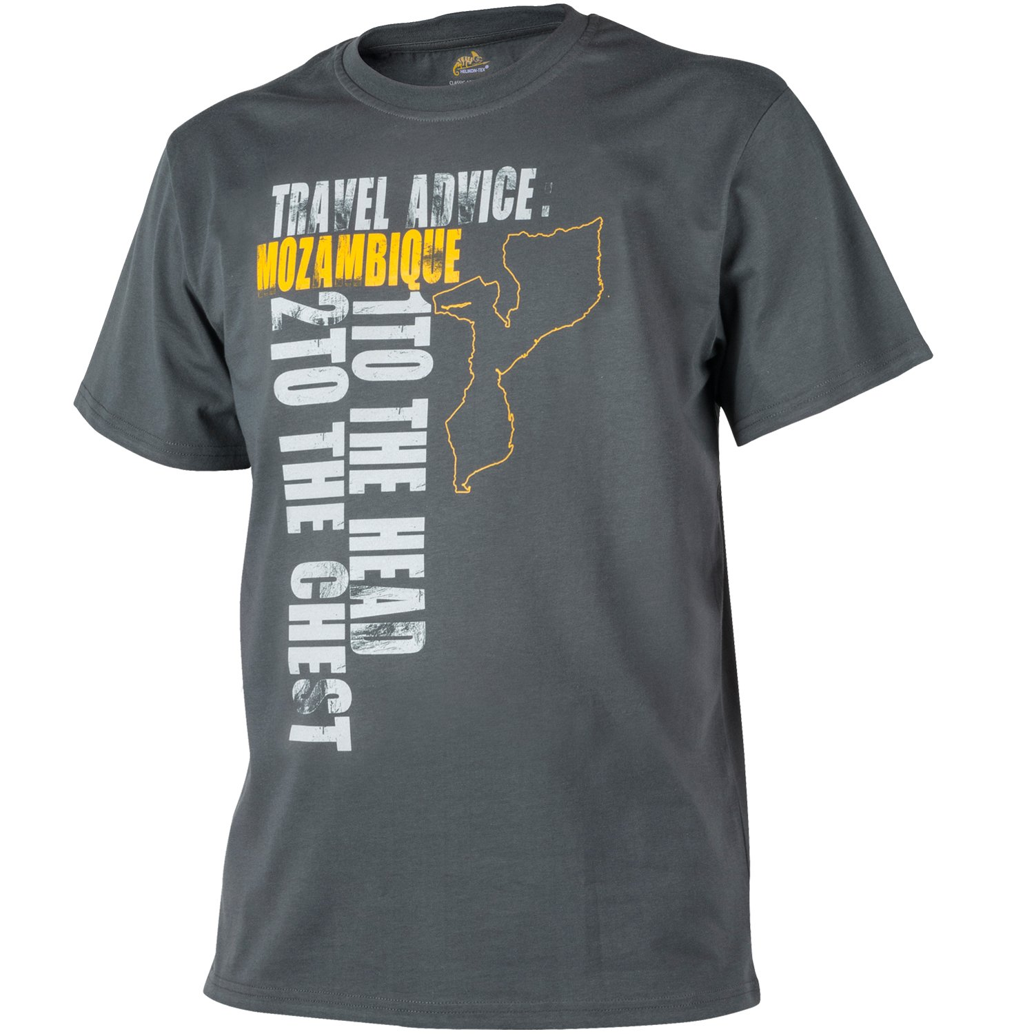 Mozambique T-Shirt Shadow Gris Helikon Hommes Travel Advice