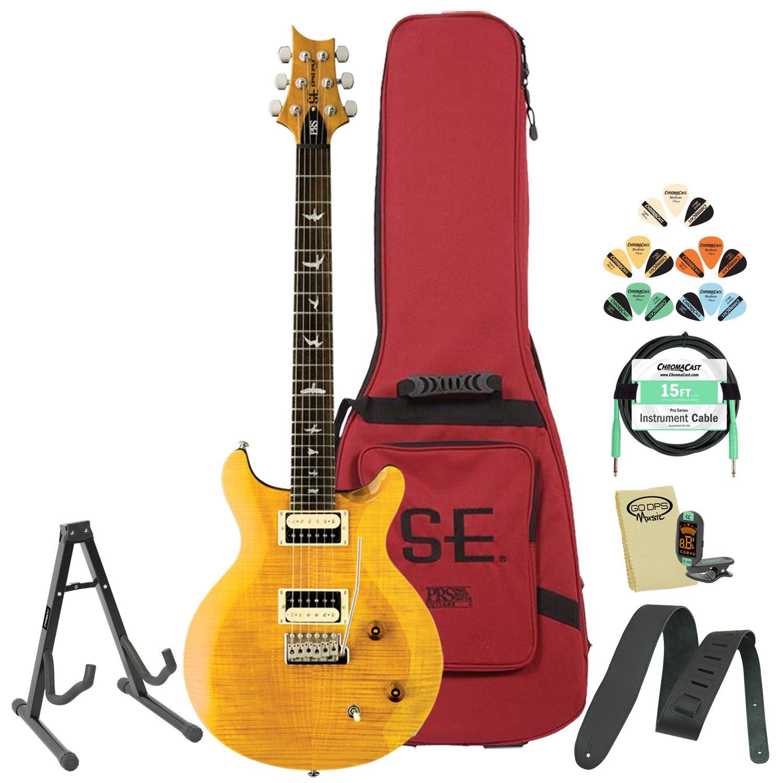 Paul Reed Smith guitarras cssy-kit-3 se cssy Carlos Santana amarillo guitarra eléctrica con sintonizador, cable, púas y Gig Bag: Amazon.es: Instrumentos ...