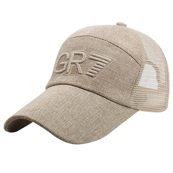 LINNUO Sombrero de Gorra de Béisbol Bordado Hombres Mujeres Sombrero de Sol de Verano Outdoor Sport Running Tenis Ajustable Hat… p5ITSe