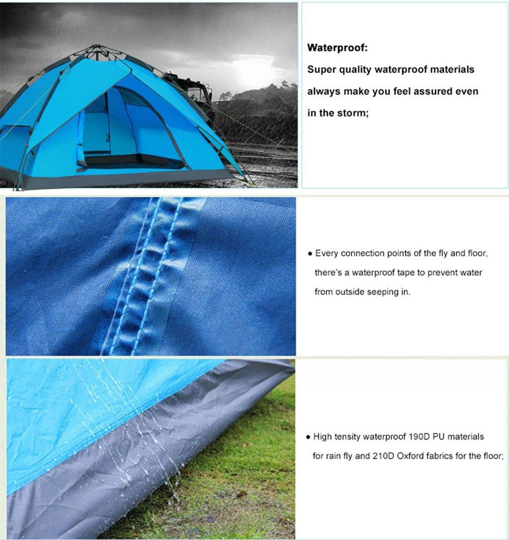Zelt für 2-4 Personen, Night Cat Wasserdicht Stoff wurfzelt für ...