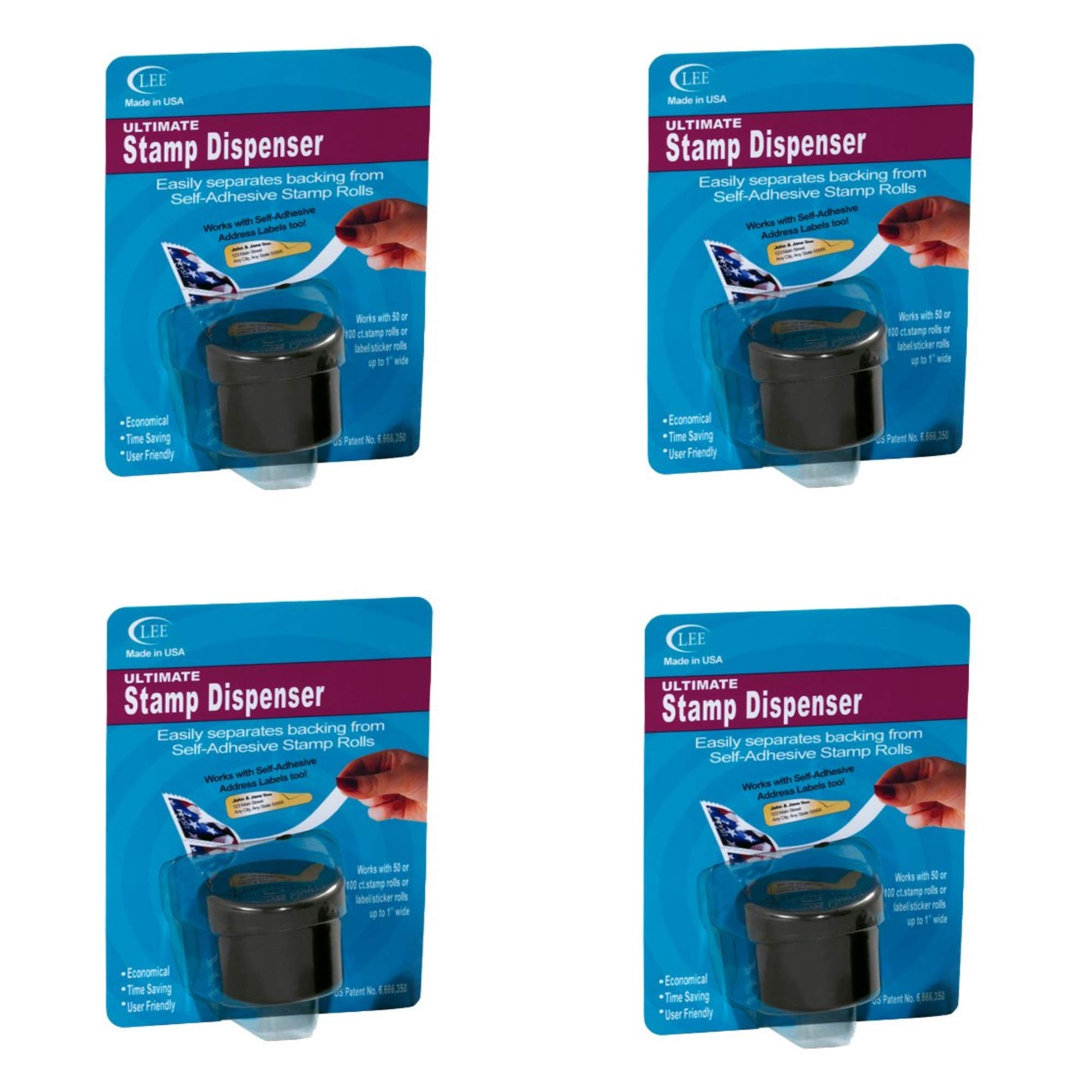 Lee Ultimate Stamp Dispenser, Black (40100), 4 Pack by Lee Products Co.