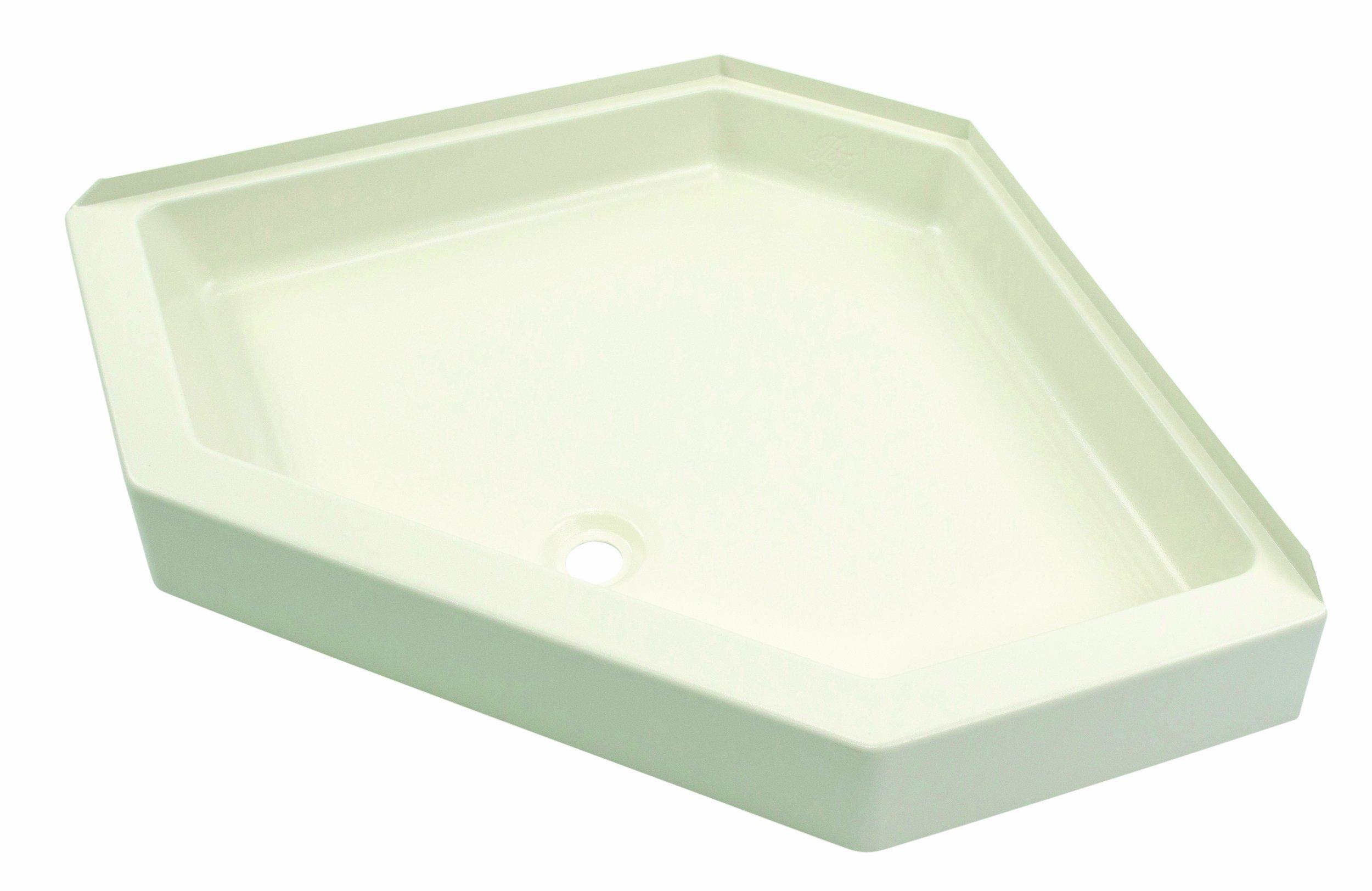 Lippert 301241 Better Bath 34'' x 34'' Neo Angle RV Shower Pan Center Drain Parchment