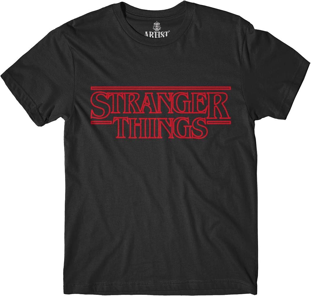 Artist – Camiseta Stranger Things Serie TV Logo Light Negro XS: Amazon.es: Ropa y accesorios