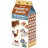 "Mudpuppy On the Farm Wooden Shapes With Magnetic Backing – 30 Wooden Pieces Each Measure 1.75"" in Height for Ages 3 to 7"