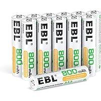 EBL 12 x Pilas AAA Recargables Ni-MH 800mAh Baja Autodescarga con ProCyco Baterías Recargables para Juguete, Linternas…