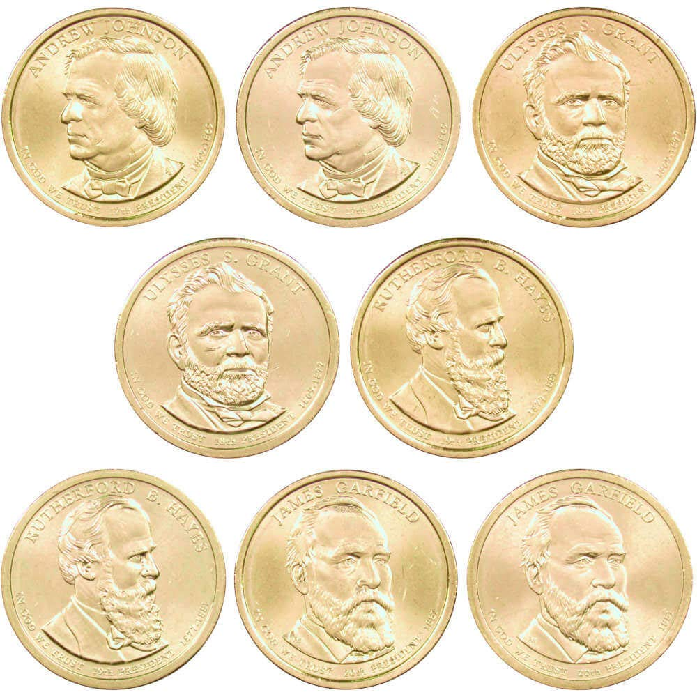 Complete set P/&Ds 2015 Presidents 8coin set.