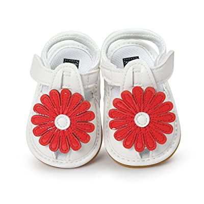 Itaar Baby Girls Summer Flower Sandals Shoes Anti-skid Soft Rubber Sole for Infants Toddlers First Walkers