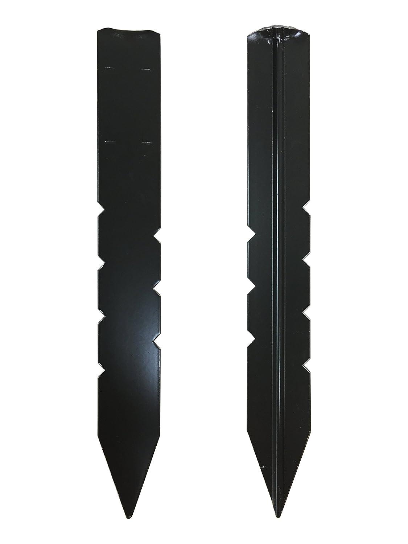 43-641 12 Pack of 25 Dimex 1800BK Black Aluminum Stakes 12 Pack of 25