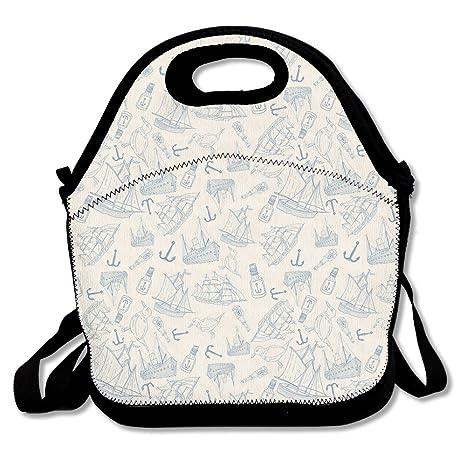 Neopreno almuerzo Tote - Náutico impermeable bolsas de ...
