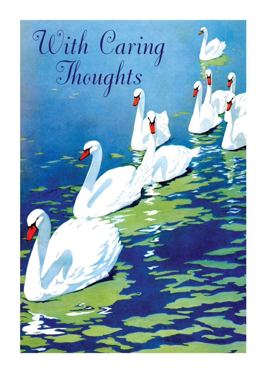 Download Swans - Sympathy Greeting Card PDF