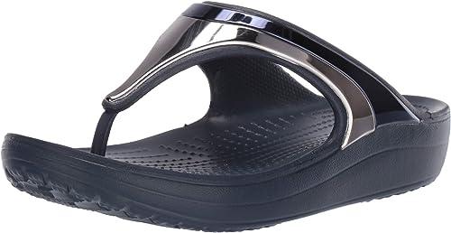 CROCS SLOANE DIAMANTE FLIP W scarpe zoccoli sandali donna ciabatte tacco mare