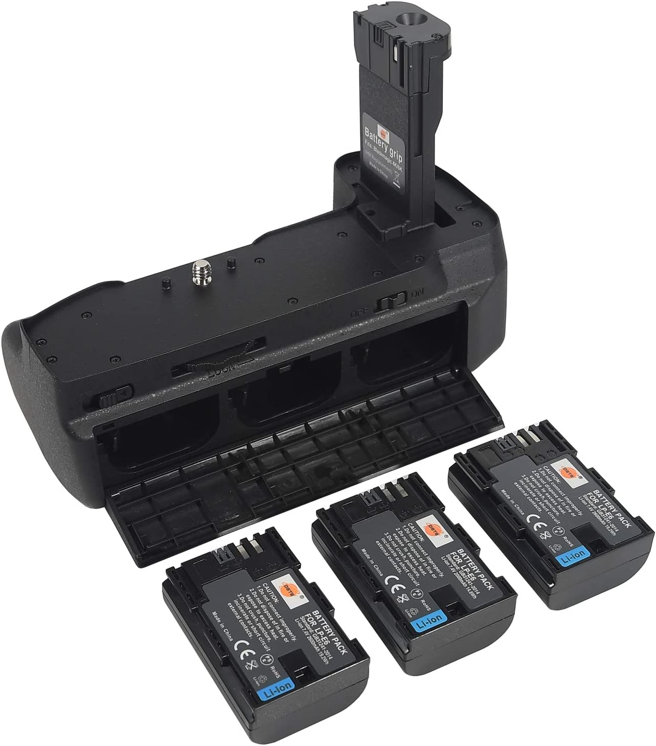Dste Battery Grip 3pcs Lp E6 Amazon Co Uk Camera Photo