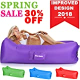 Inflatable Lounger Air Chair Couch Hammock Lazy Hangout Sofa Bag Lounger Get Inflated and Hold Air Better Others Beach Couch with Foldable Travel Bag MOTHERS DAY Gift for Sport Outdoor Pool Toy Float