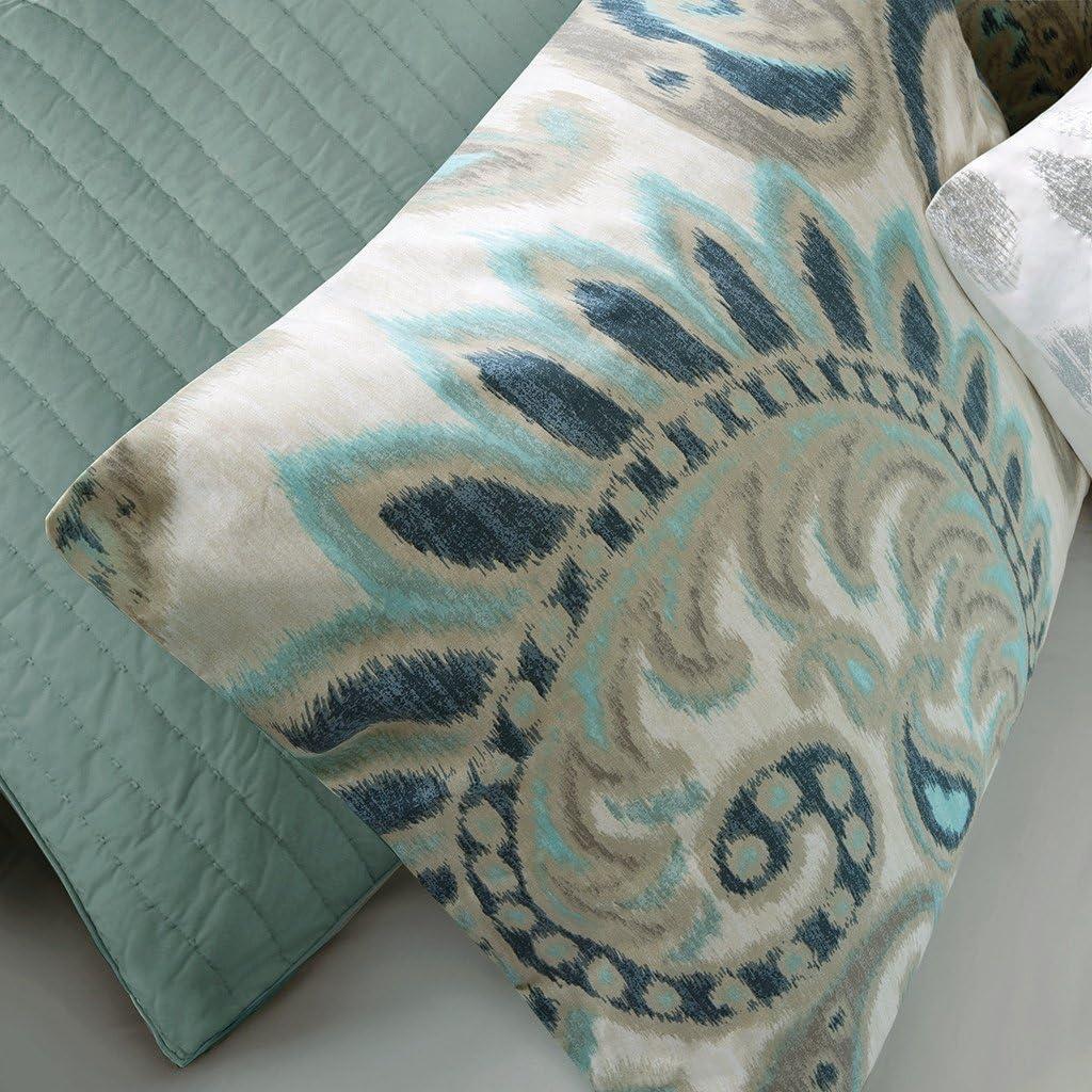 Full//Queen Blue INK+IVY II10-047 Sutton Comforter Set