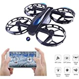 LITEBEE JJRC Drone Foldable Selfie Drone With 720P Camera, Wifi FPV Drone (Altitude Hold Mode, 5 Minutes Flying Time, G-Sensor Mode, Headless Mode) Toy Drone for Kids Birthday Gift