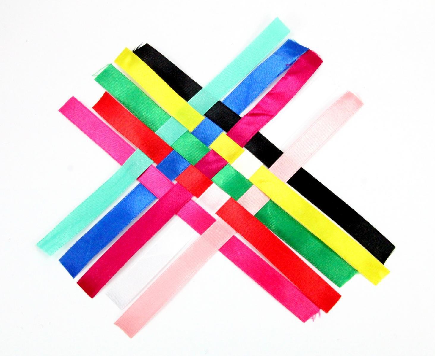 ZADAWERK/® Satin /& Chiffon Ribbon Pastel, 0.47 in. x25.15 yd. - 10 roles