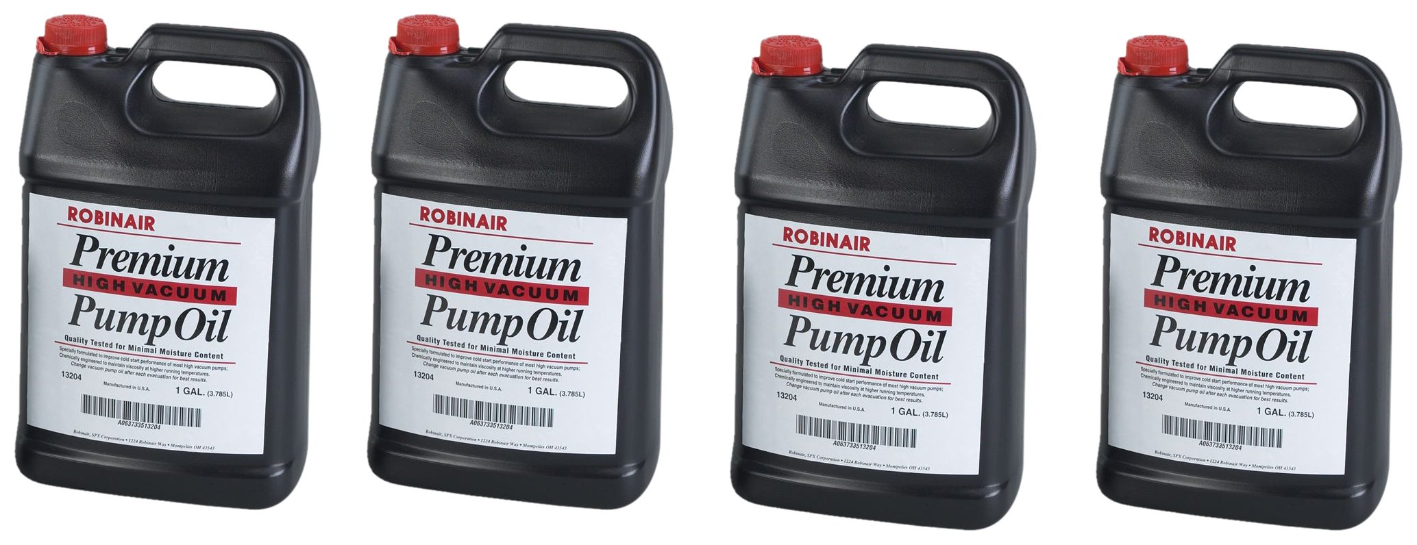 Robinair 13204 Premium High Vacuum Pump Oil - 4- one gallon jugs