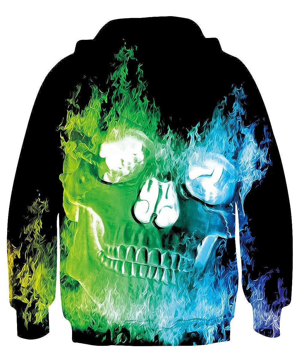 Rave on Friday Kinder Hoodie 3D Druck Kapuzenpullover Novelty Sweatshirts mit Kapuze Pullover 4-15 Jahr