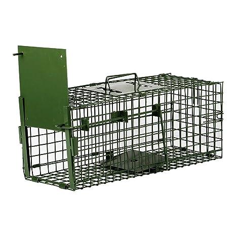Yaheetech Trampa para Animales Trampa Jaula para Zorro Conejo 4 Tamaño XXS:55x19x21,5