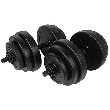 Tunturi – Mancuernas ajustables ((30 kg peso Set Estándar de ...