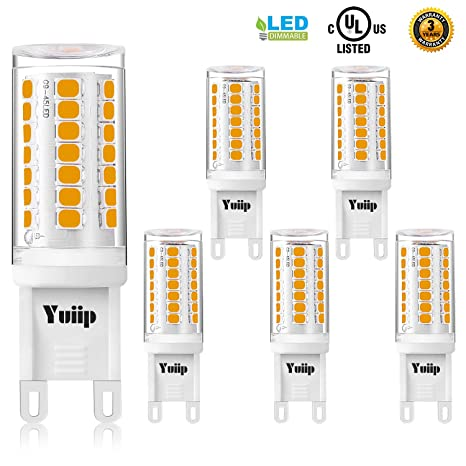 Bulb Dimmable Yuiip White Bulbs 3000k Led Light 120v G9 Ac Warm IYfvb76gy