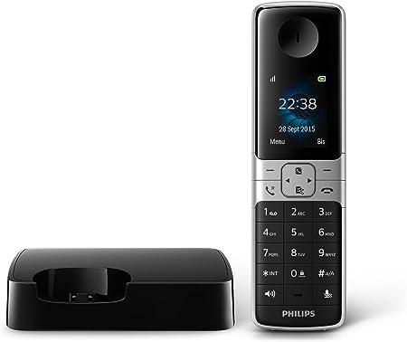 Philips D6301B - Teléfono Fijo Inalámbrico Vigilabebés (TFT Retroiluminado, 18 Horas, Alcance+++, Manos Libres, MySound, HQ-Sound, Agenda, 3 Entradas/nº, Compatible Red Gap, Modo Privado, Eco+) Negro: Amazon.es: Electrónica