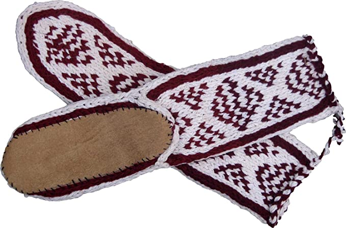 Amazon Mukluk Slippers With Leather Sole White With A Second
