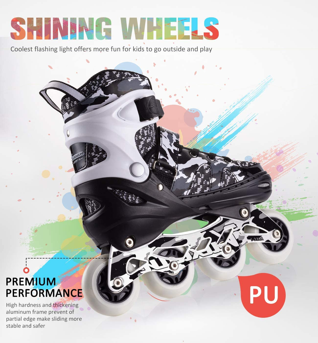 Amazon.com: Kuxuan - Patines en línea ajustables con ruedas ...