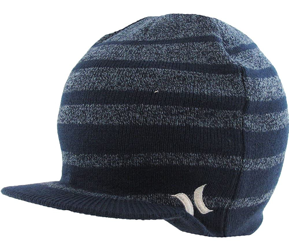 01607b1e00a Hurley Wanderer Visor Beanie Cap - More Colors! (Heather Navy)   Amazon.co.uk  Clothing